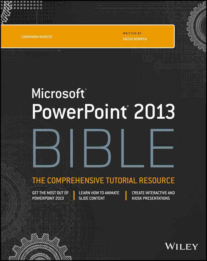 PowerPoint 2013 Bible By Wempen, Faithe (EDT)